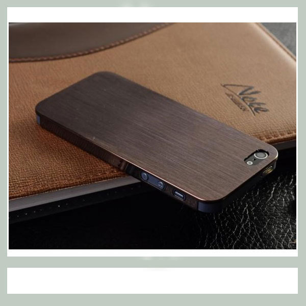 "0.3mm Ultrathin Brushed Aluminum metal hard case for iphone 5, Titanium steel mesh Metal back cover for iphone 5g 5s"", free gift"