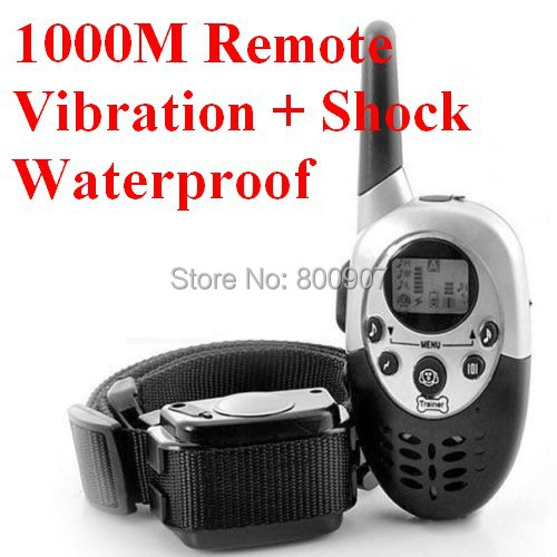 Dog Trainer 1000M Waterproof Rechargeable LCD REMOTE PET DOG TRAINING COLLAR ELECTRIC Shock LARGE DOG CONTROL(China (Mainland))
