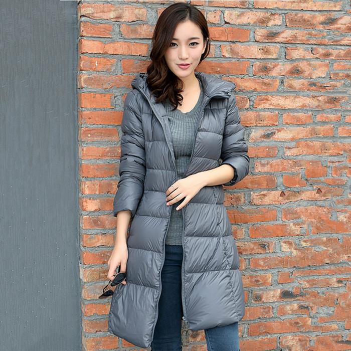 New 2015 winter fashion style hooded jacket women slim long coats big size outerwear parka plus size White duck down jackets#241(China (Mainland))