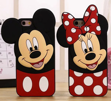 3D Cartoon Minnie Mouse Mickey Mouse Soft Silicone Phone Case Back Cover Skin Shell For Apple iPhone For Samsung Mobile Phones