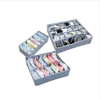 Free shipping 3 pieces one set,foldable box /Bamboo Charcoal fibre Storage Box for bra,underwear,necktie,socks,storage organizer