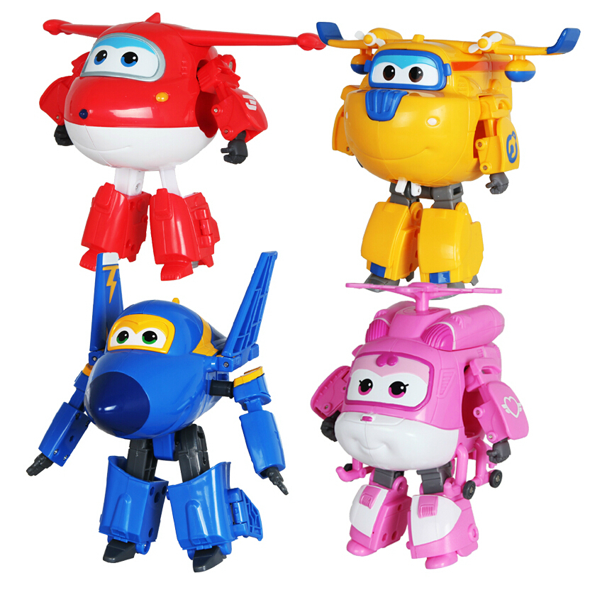 Hot Sale! Super Wings Mini Planes Toy ABS Deformation Airplane Robots JETT Action Figure Boys Birthday Gift Superwings(China (Mainland))