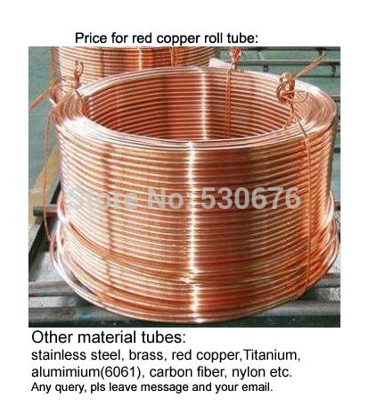 Free shipping Size:1.6*0.5*4000mm(outer diameter*thickness*length) , red copper roll tube, red copper pipe<br><br>Aliexpress
