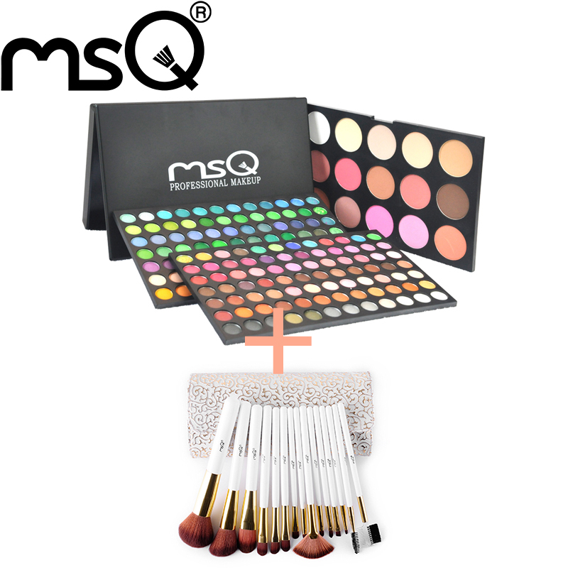 MSQ Brand Makeup set 183colors eyeshadow palette+15pcs makeup brush set Professional Cosmetics set High quality New Product<br><br>Aliexpress