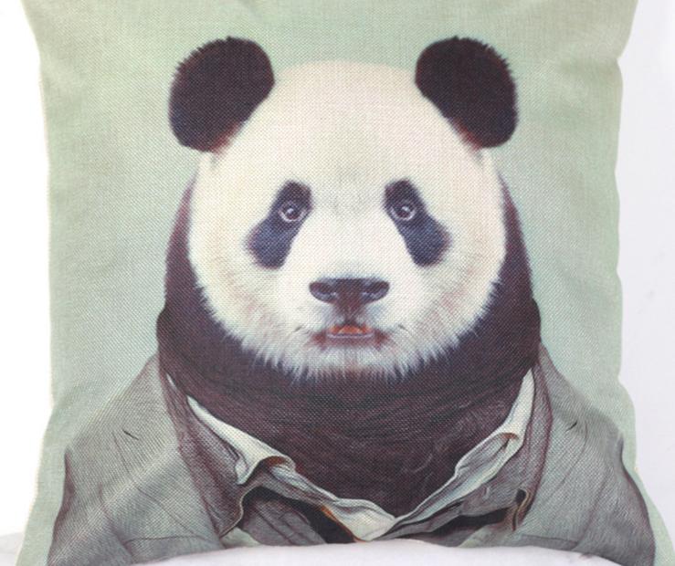 Chinese style panda cute portrait pillow emoji pillow massager decorative pillows home decoration pillow kids pets gift(China (Mainland))