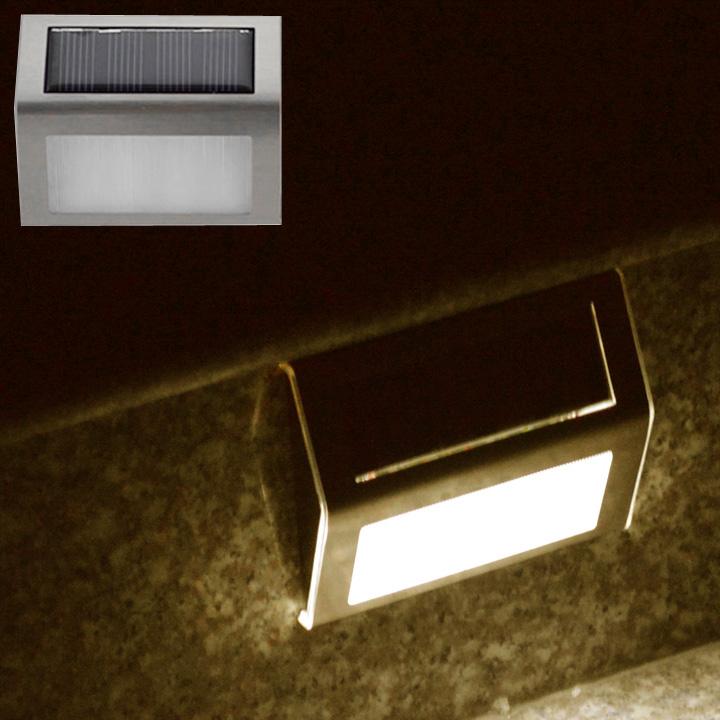 LED Solar Panel Lamp 2 LED Light Sensor Waterproof Outdoor Fence Garden Pathway Wall Lamp Lighting<br><br>Aliexpress