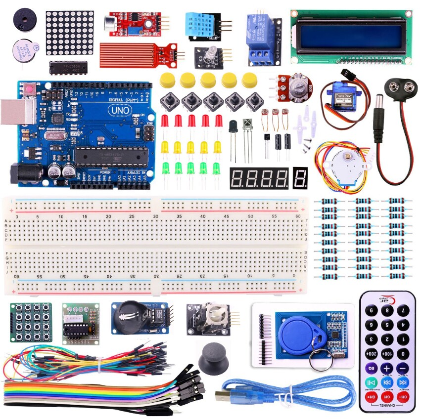 UNO R3 KIT Upgraded version for Arduino Starter Kit RFID Learn Suite Stepper Motor + ULN2003 Free Shipping 1 set(China (Mainland))