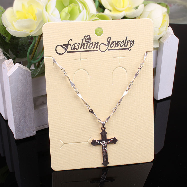 8x11cm Cream-Colored And White Necklace Jwelry Display Cards 100pcs/lot Personalized Jewelry Cards With Logo JC#703(China (Mainland))