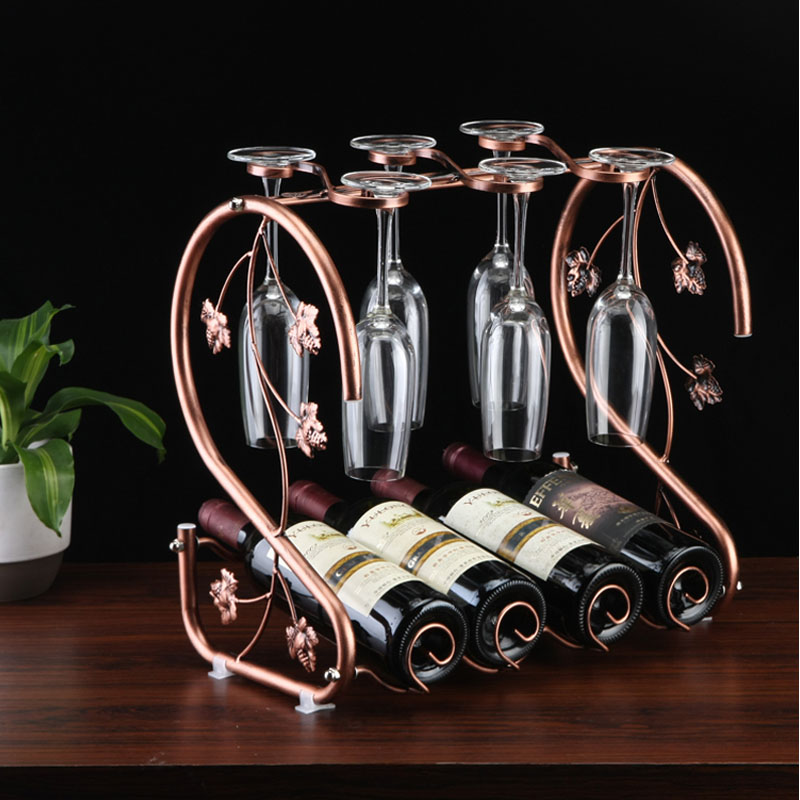 New Arrive Free Shipping Decorative Metal Wine Racks