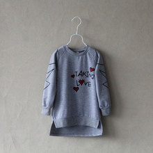 Free shipping spring new arrival girl long-sleeve T-shirt children's clothes cute baby English letters long sleeve long T-shirt(China (Mainland))