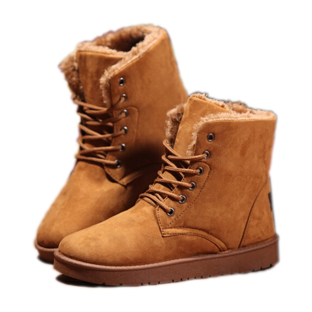 2015 Winter Men Snow Boots Fashion Round Toe Fur Boots ...