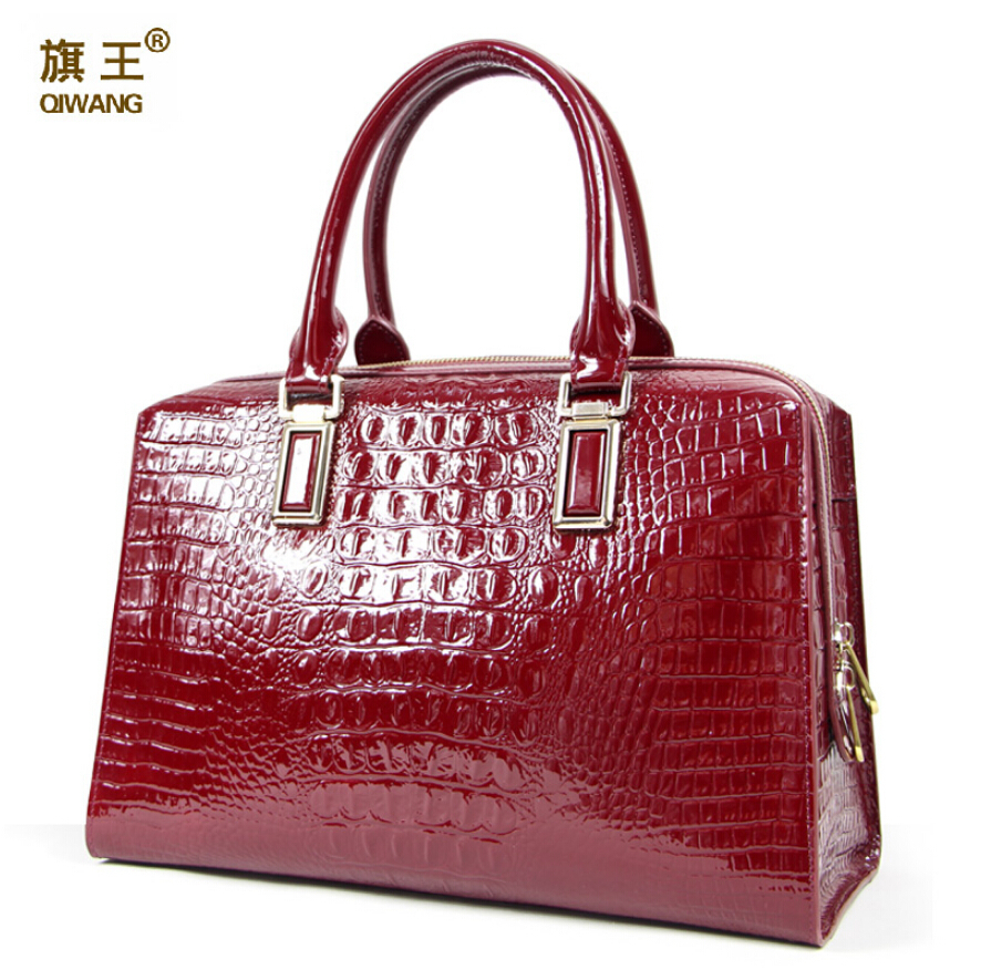 Lady handbags 2015 new crocodile grain true handbag big female high-grade paint package <br><br>Aliexpress