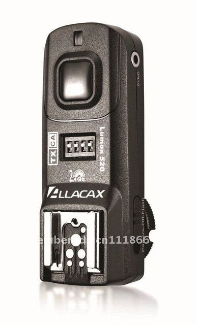 Allacax 4in1 Radio Wireless Trigger Kit fits Canon Cameras (1 TX + 2 RX),Shutter Release, TTL pass-through