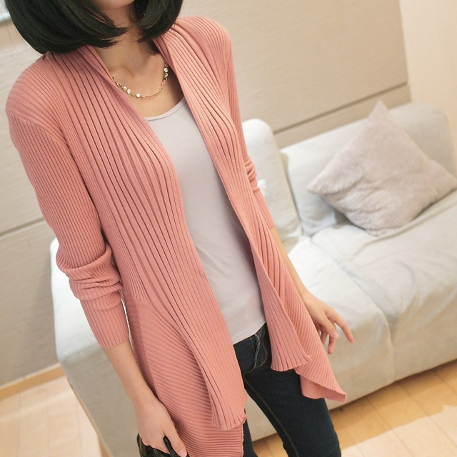 FREE SHIPPING 2013 spring slim medium-long cardigan outerwear sweater long cardigan cape outerwear