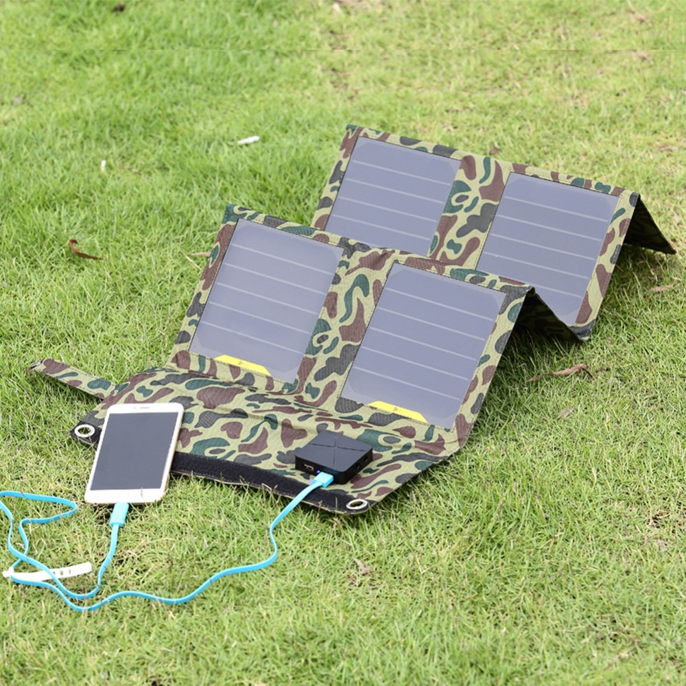 26W Portable Folding Solar Panel Charger Camouflage Folding Solar Charger Outdoor Mobile Power Solar Panels For Cell Phones GPS(China (Mainland))