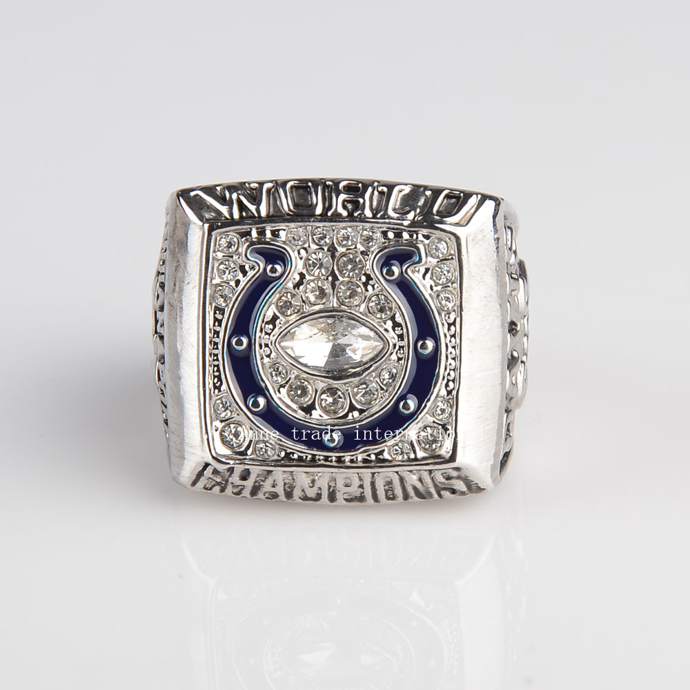 2006 Indianapolis Colts Super Bowl Championship Ring bottom Price for Fans free shipping gold plated sports ring(China (Mainland))