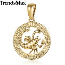 Trendsmax 12 znak zodiaku konstelacje wisiorki naszyjniki dla kobiet mężczyzn 585 różowe złoto biżuteria męska moda urodziny prezenty GPM16(Hong Kong,China)