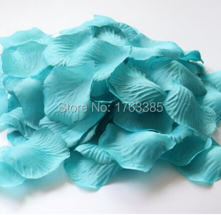 600PCS Teal Blue Silk Rose Petals Wedding Centerpieces Party Decoration Confetti Bridal Shower Party Favor(China (Mainland))