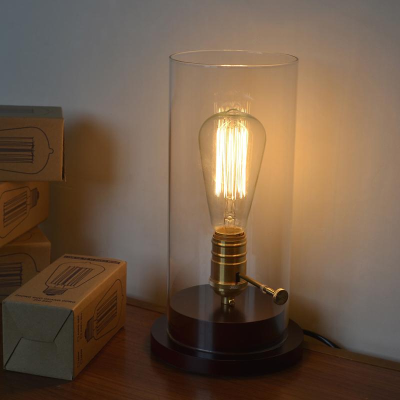 Best selling x american fashion bedside loft vintage study for Glass bedside lamp shades
