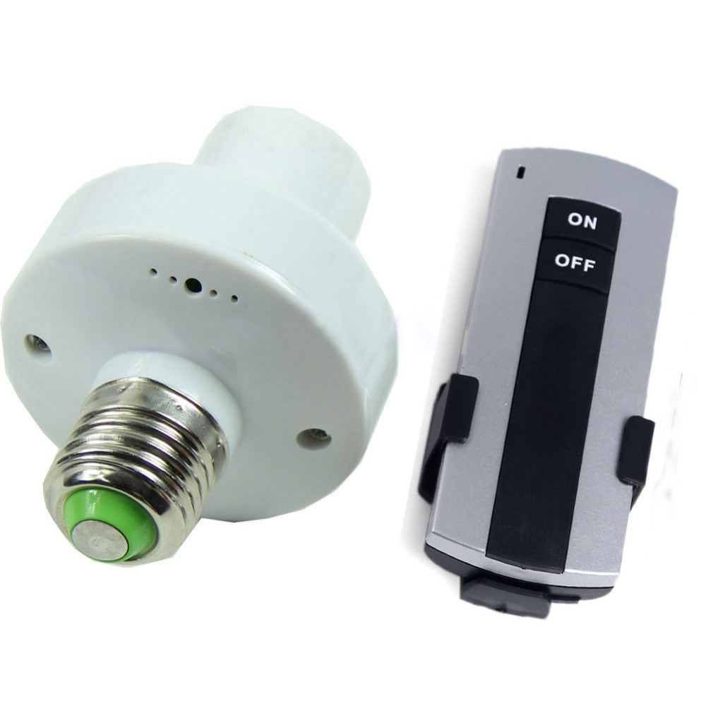 2016 hot sales Wireless Remote Control E27 Screw Light Lamp Bulb Holder Cap Socket Switch Newes(China (Mainland))