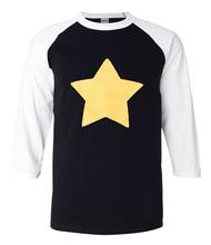 Buy 2017 summer 3/4 sleeve t shirts men Steven Universe Star 100% cotton raglan men t-shirt hip hop streetwear casual tops tees men for $7.69 in AliExpress store