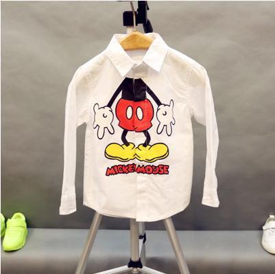 2015 Spring new boys Cotton Cartoon Shirts Blouses Children Girls Boys shirt Kids blouse Boys kid clothing
