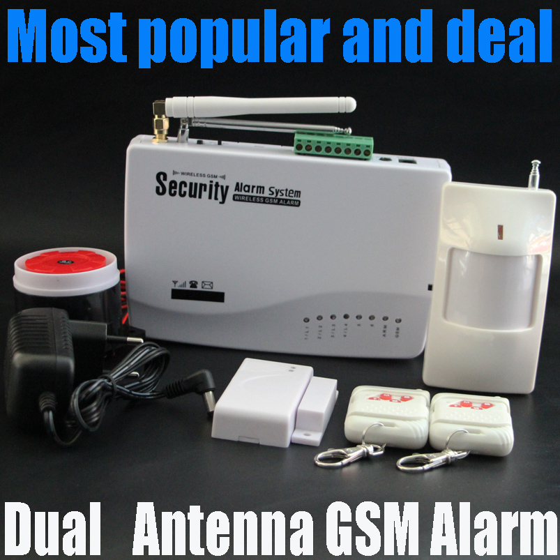 free shipping Intercom home security wireless GSM alarm system 2 year warranty 900/1800/1900MHZ with russian,english voice<br><br>Aliexpress
