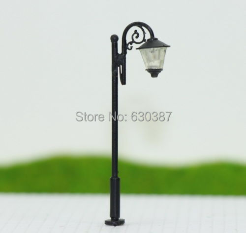 LYM36 10pcs Model Railway Train Lamp Post Street Lights TT N Scale LEDs NEW(China (Mainland))