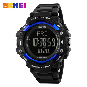 3D Pedometer Heart Rate Monitor Calories Counter Fitness Tracker Sports Watch Men Digital LED SKMEI 1180 Role Watches Men