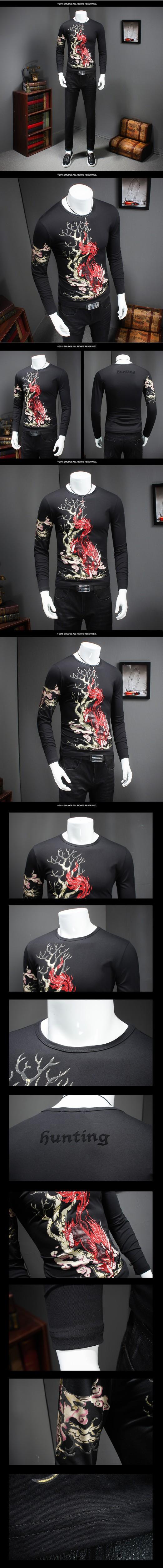 2016 Autumn&winter Fashion Man Tops Tees long Sleeve Tshirt Men's T-shirt brand  round neck shirts men Free Shipping size M-5XL