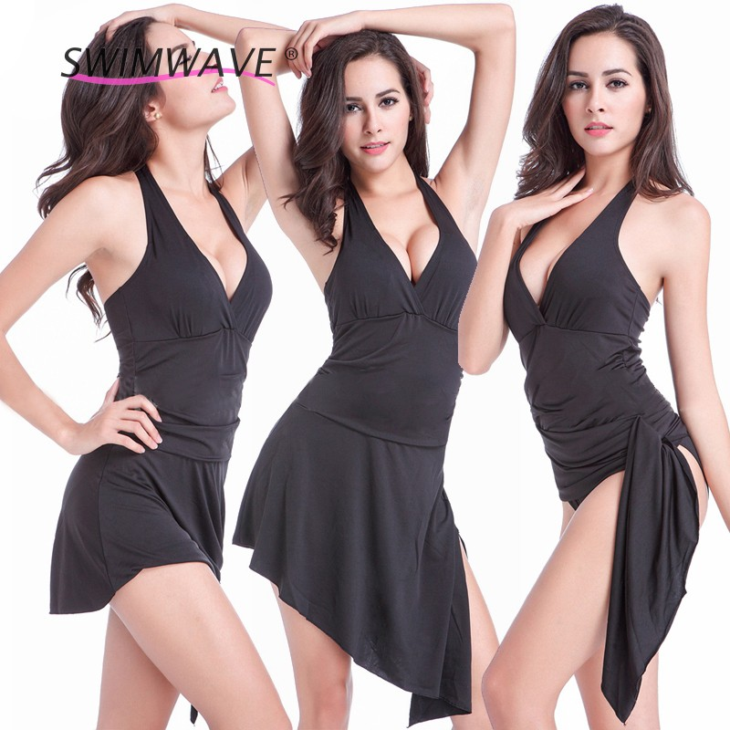 European Style Pure Sexy Variety Swimsuit Piece Swimwear Beach Dress Combo Push Up Bikini Vintage Beach Dress Bathing Suits(China (Mainland))