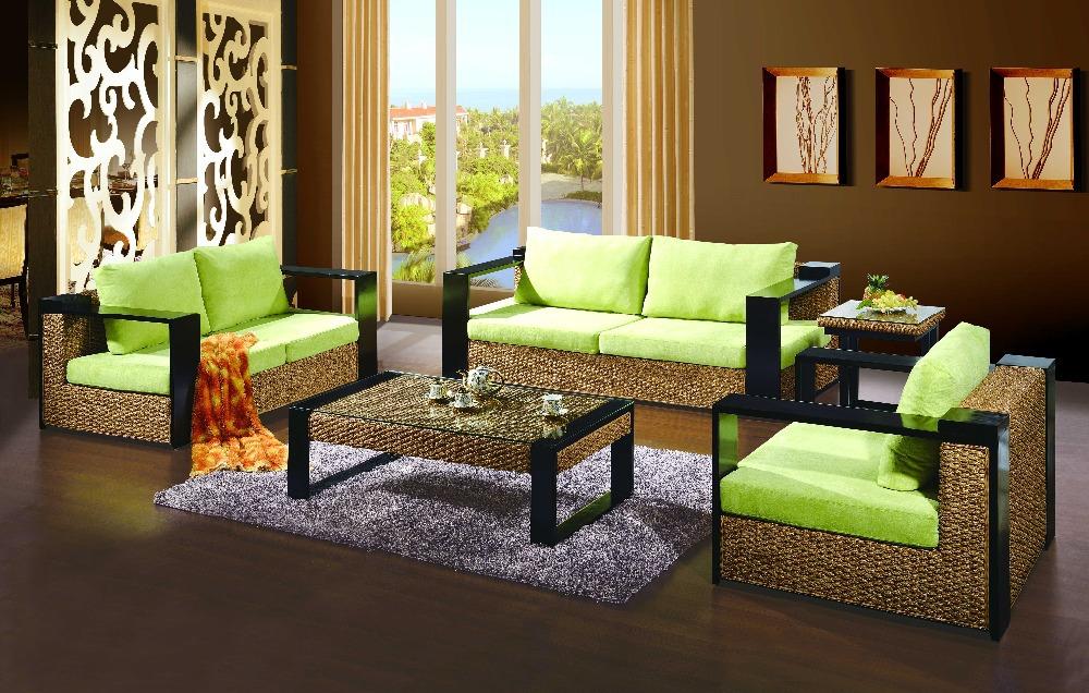 2015 new design outdoor rattan set 4 pcs sofa table wicker for Sofas mimbre exterior