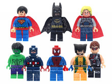 8 Pcs/lot The Avengers Marvel DC Super Heroes Series Action Minifigures Building Block Toys New Kids Gift Compatible With Legoe(China (Mainland))
