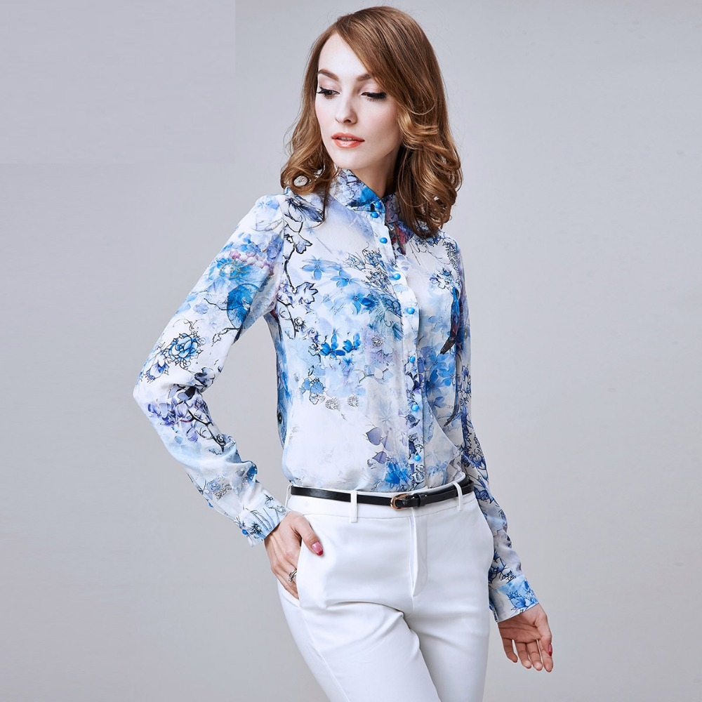 Autumn Women 39 S National Trend Crepe De Chine Silk Long