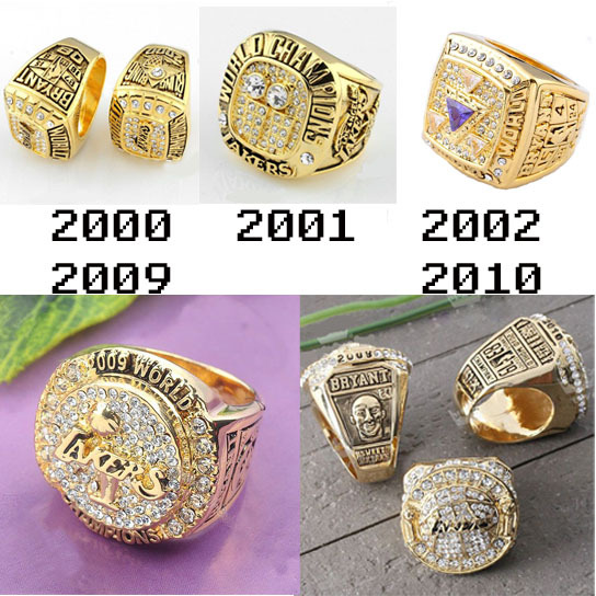 Kobe Bryant 2000 2001 2002 2009 2010 Basketball Los Angeles Lakers Championship Ring Set Replica Souvenir US Size 10 - China Moluss Co,.LTD store