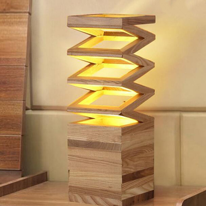 Wood Read Table Lamp Vintage Solid Wood Lamp Study Living Room Loft Foyer Lamp the solid wood Eye protecting LED Table lamp(China (Mainland))
