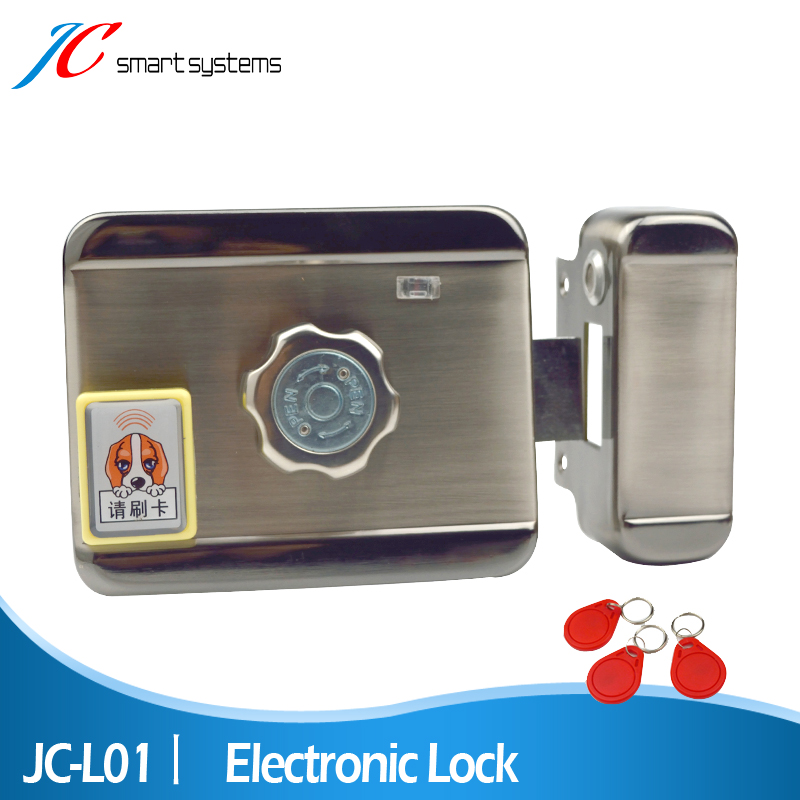 High Technology Smart Electronics Security Door Locks Mute Electric Lock With ID Card Reader For Gate Intercom System(China (Mainland))