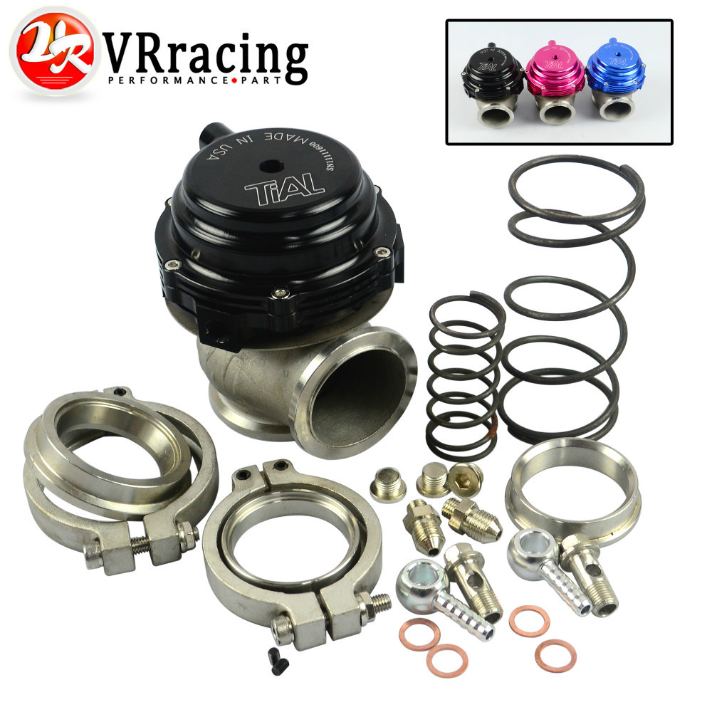 VR RACING STORE- Water cooler 44mm Tial Wastegate external turbo red/blue/black With Flange and Hardware MV-R Water-cooled(China (Mainland))