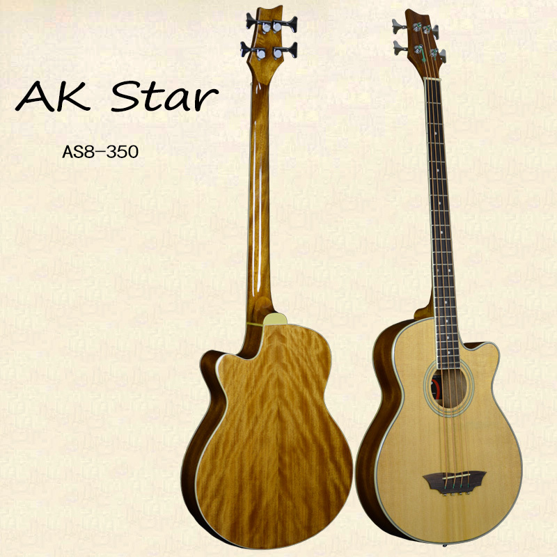 Acoustic bass 4 string Spruce top Acoustic wood bass guitar Factory direct musical instruments Four string guitar(China (Mainland))