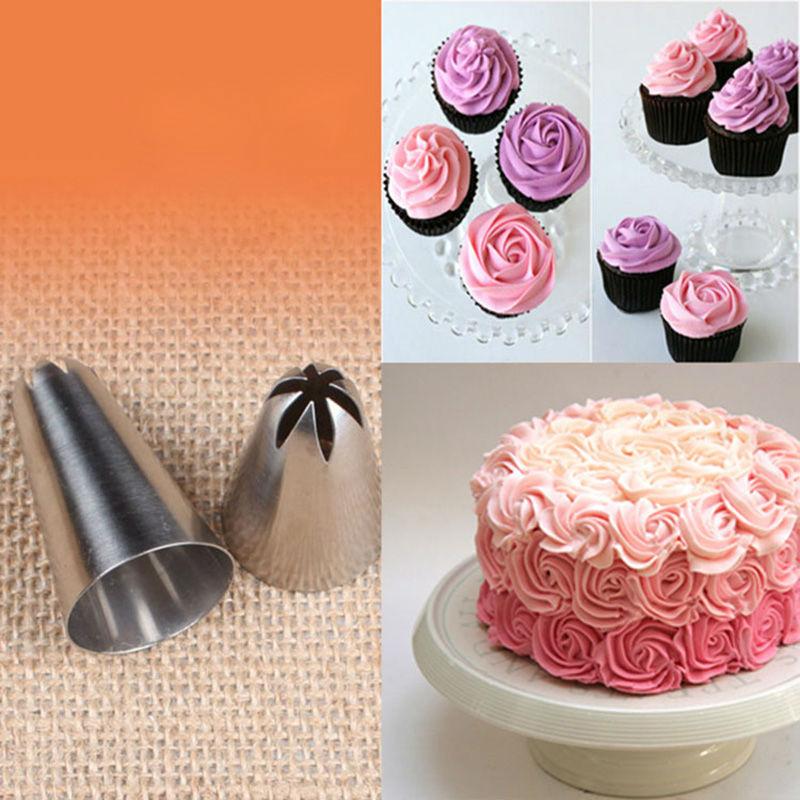 1b Large Size Cream Nozzle Decorating Tip Icing Nozzle Cake Baking Tools For Cake