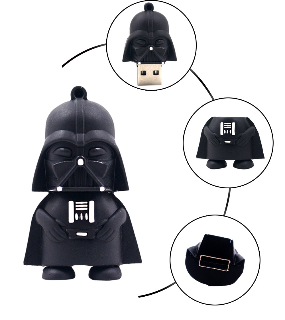 Star Wars Darth Vader pen drive 8GB 16GB 32GB 64GB black man pendrive flash memory stick drives real capacity usb flash drive(China (Mainland))