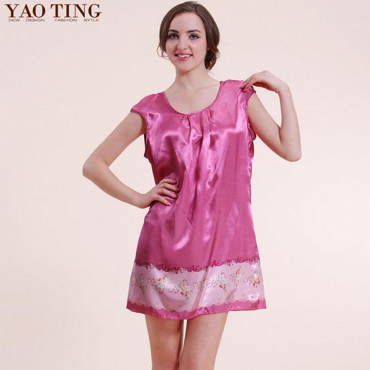 2015 Pijamas Mujer Onesie Pijama Feminino Sexy Lingerie Brand Pajamas Female Summer Sleeveless Silk Nightgown Women Tracksuit(China (Mainland))
