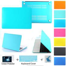 Бесплатная доставка матовый Tiffanyblue / золото 8 цветов ноутбук чехол pro 13 15 / retina 13 15 11 12 13 протектор для MAC macbook 3 подарки