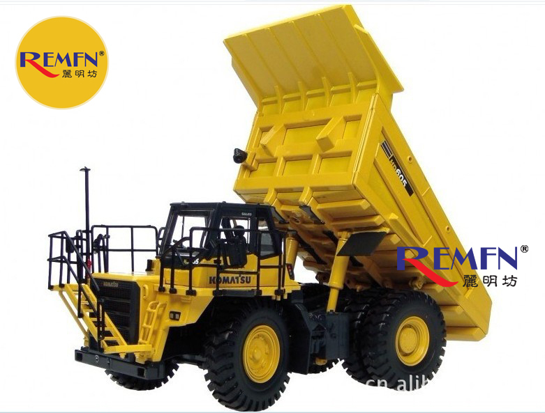Small uh 8009 hd605 komatsu dump alloy ore transport vehicle truck model - CHINA VIE BUSSINESS CO., LTD store