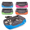 Pet Dog Bed Warming Dog House Soft Material Pet Nest Candy Colored Dog Fall and Winter