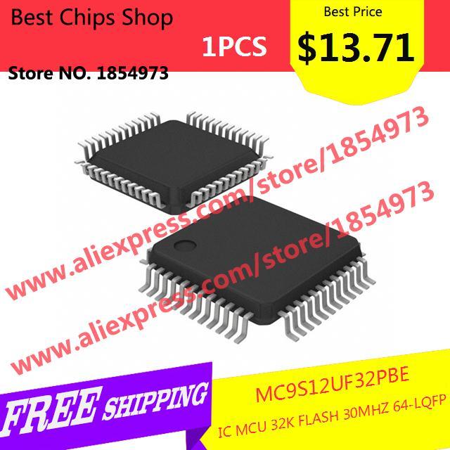 Free Shipping 1PCS=$13.71 Electronic Components MC9S12UF32PBE IC MCU 32K FLASH 30MHZ 64-LQFP 12UF32 9S12UF32(China (Mainland))