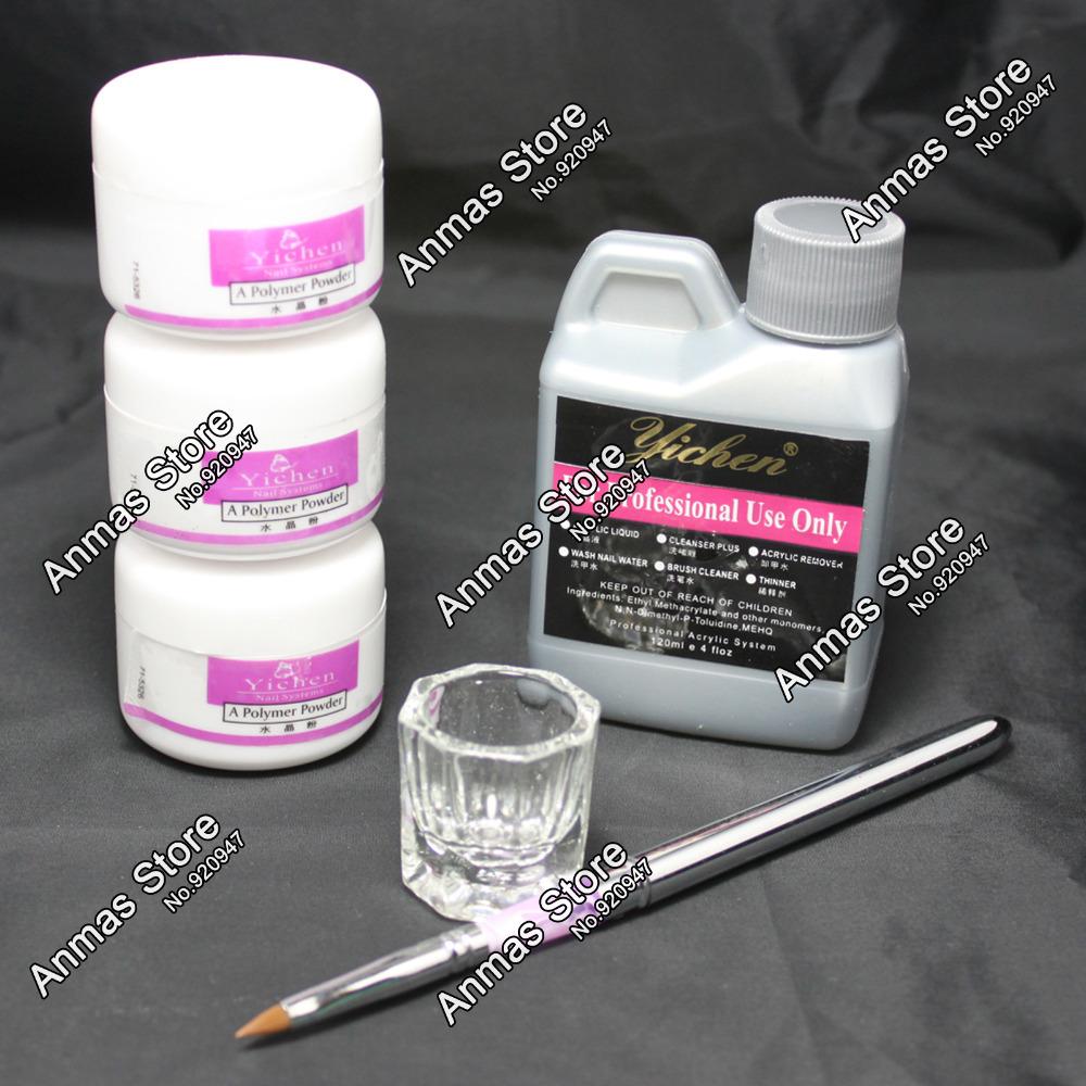 Nail Beauty Art Kit Acrylic Liquid Powder Pen DIY Dappen dish nail art tool set #46set(China (Mainland))