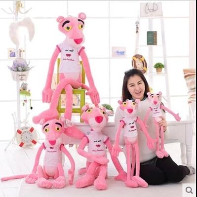 "1 pcs 21.7"" 55cm Stuffed animal pillow kawaii NICI pink panther plush toy doll cartoon plush toy soft for children birthday gift(China (Mainland))"