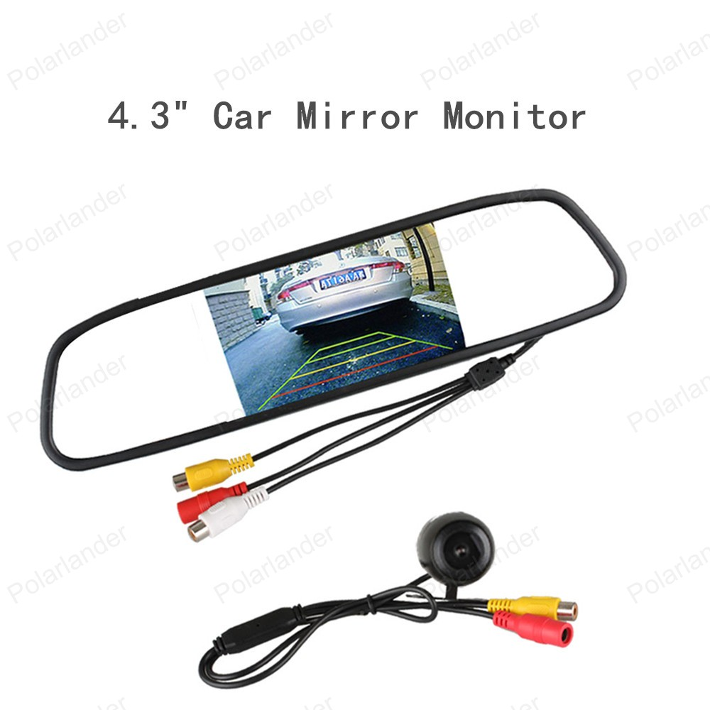 "best selling Car Parking Assistance System 4.3"" Color TFT LCD Display Car Mirror Monitor with Rear View Camera(China (Mainland))"