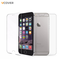 Vcover 2Pcs Front + Back Tempered Glass For iPhone 4/4s/5/5s/5c/6/6s/6plus/6s plus Rear Screen Protector Anti Shatter Film(China (Mainland))